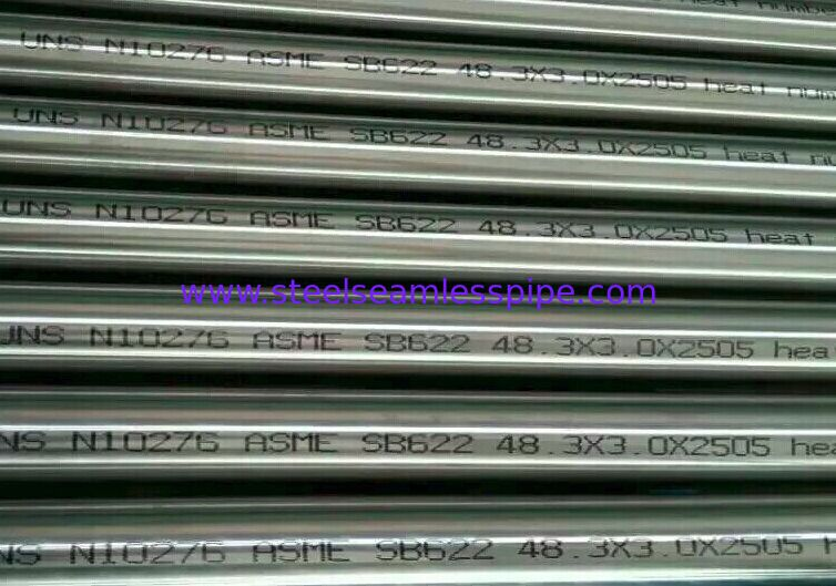 Anti-corrosion B574 / B575 / B619 / B622 Hastelloy C Pipe , Hastelloy C276 Nickel Alloy Pipe