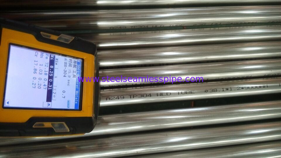 TP304 TP304L TP316L Stainless Steel Welded Tubing ASTM A249 / ASME SA249 38.1*1.2/1.5MM