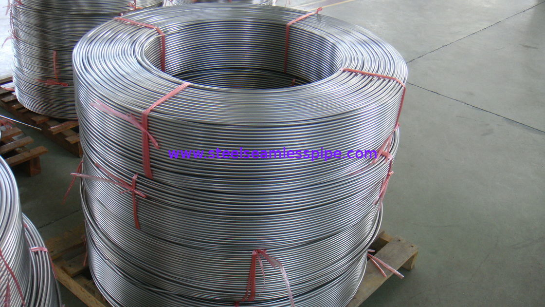 Bright Annealed Seamless Stainless Steel Coil Tubing 12.7MM Cold Drawn