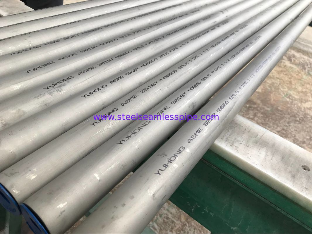 Heat Exchanger Nickel Alloy Pipes High Precision ASME SB163 / SB167 Standard