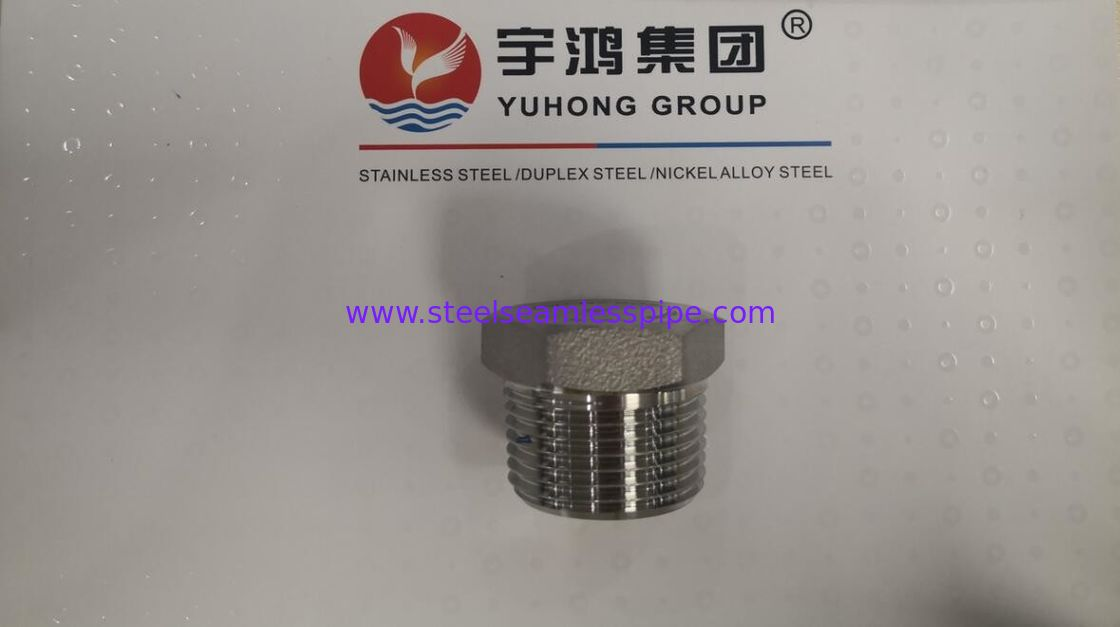STAINLESS STEEL HEX PLUG ,MATERIAL SS316L,SIZE 1'',CLASS 3000,ASME B16.11