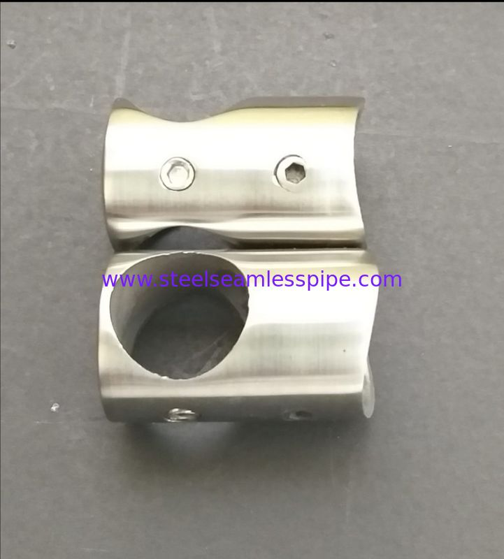 SS201 SS304 SS316 Stainless Steel Handrail Fittings For Handrail Bracket Glass Tube Stair System